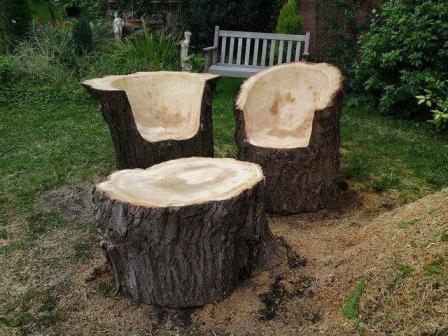 дачная мебель из бревна - удобство, надежность и практичность на все случаи жизни