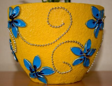 – декорирование цветочных горшков