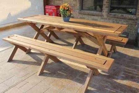 Скамейки и столы на дачу своими руками