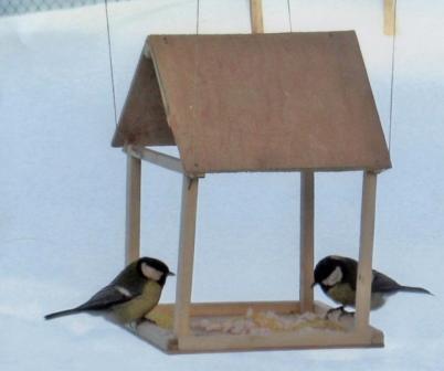 Кормушка из картона для птиц своими руками фото 150