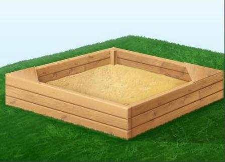 обыкновенная песочница для детей - стандартный и недорогой вариант
