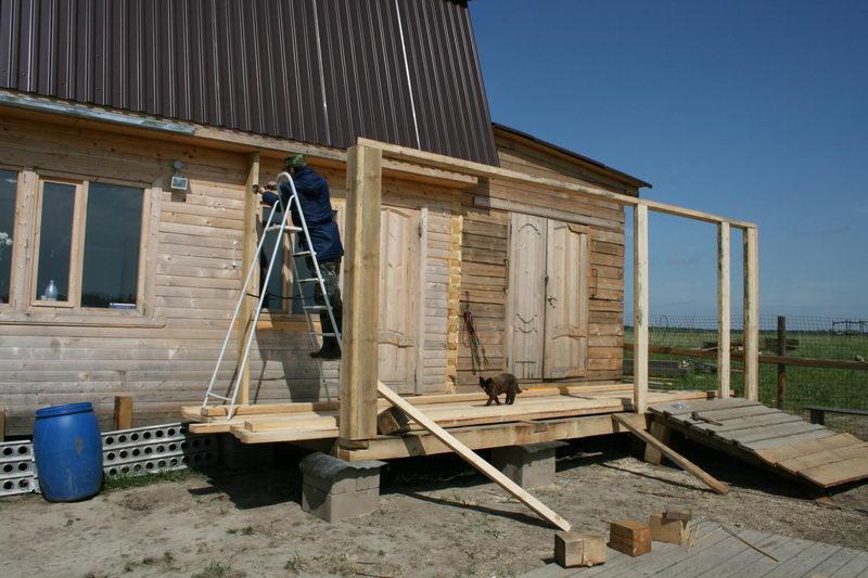 Веранда на даче своими руками фото постройки