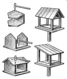 Чертежи кормушка для птиц своими руками