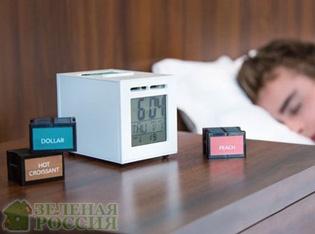 Создан будильник, который будит ароматом кофе и шоколада