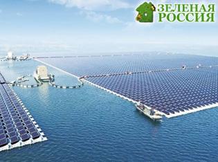 В Китае построили самую большую плавучую солнечную станцию