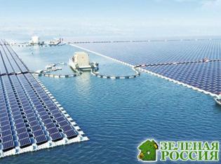 Крупнейшая в мире плавучая солнечная электростанция построена в Китае