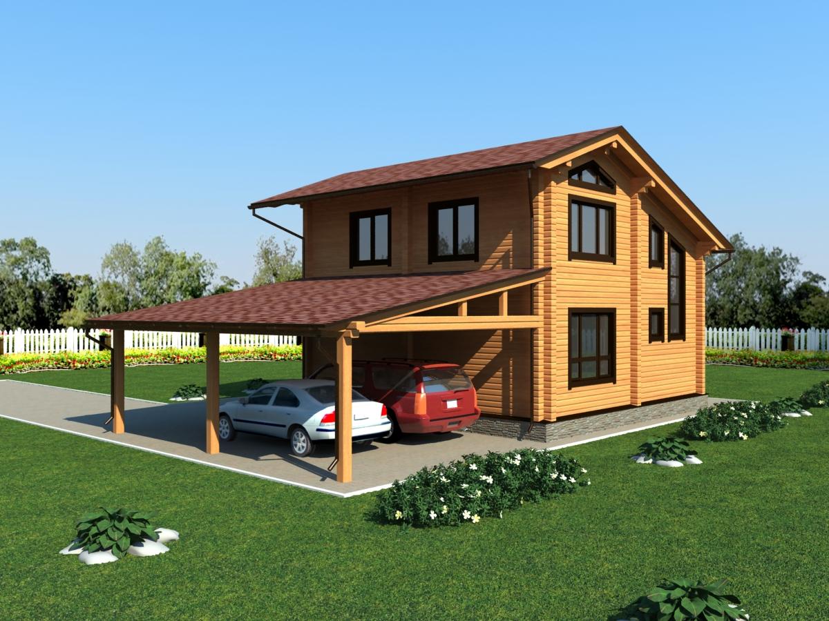 Дома и бани из бруса под ключ  строительство проекты