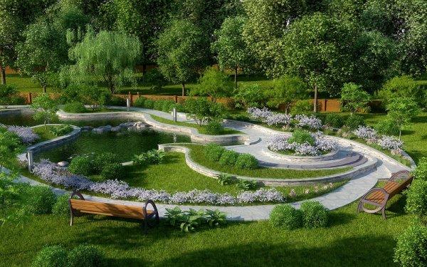 Ландшафтный дизайн и современный сад